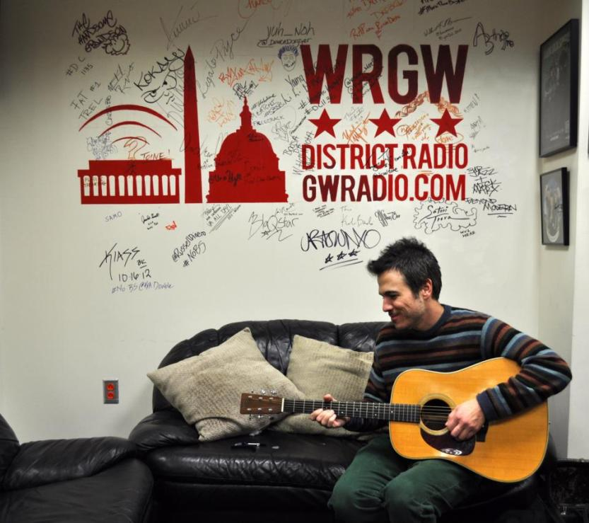 Geoff Koch in-studio as part of WRGW's Glass Case Sessions