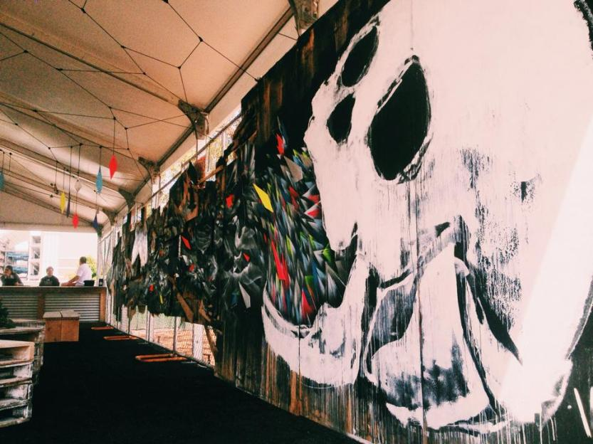 Interior of VIP tent by main stage. Credit: Helen Jiang